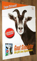 Goat Simulator very rare double sided promo Poster 84x59cm from Gamescom