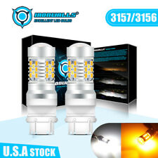 IRONWALLS T25 3156 3157 Led Reverse Turn Light Bulbs 92SMD 5730 55W 6000K White