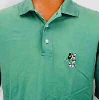 Titleist by Corbin Large Disney Embroidered Mickey Mouse Polo Shirt Solid Green