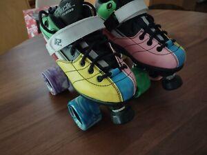Rock Explosion GT-50 Roller Skates  Size 4 Sure Grip Twister