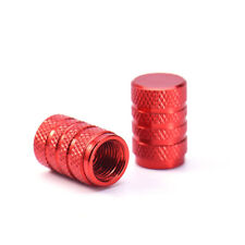 Red Motorcycle Car Wheel Tyre Tire Valve Cap Stems Air Dust Cover Screw Caps