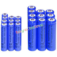 10 AA 3000mAh + 10 AAA 1800mAh battery Bulk Nickel Hydride Rechargeable 1.2V Blu