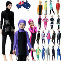 Ladies Girls Muslim Islamic Swimwear Modest Full Cover Burkini Swimming Costumes