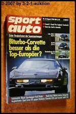 Sport Auto 8/88 Corvette Biturbo Ruf 911 Lotec 300 CE