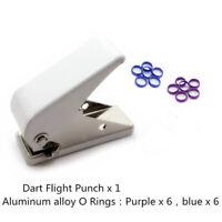 Professional Dart Flight Punch Dart Wing Hole + 12pcs O ring Darts Accessory_ws
