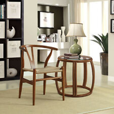 Amish Wooden Dining Chair, Walnut - Mid Century Modern Style - FREE SHIPPING