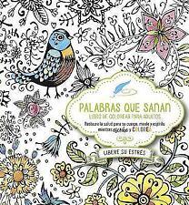 Palabras Que Sanan - Diario de Oración y Libro de Colorear : Restaura la...