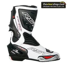 "RST ""TRACTECH EVO"" Motorcycle Sports Race / Track Boots - WHITE - EU42 UK8"