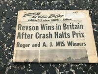 JULY 18 1973 NATIONAL SPEED & SPORTS NEWS car racing newspaper - REVSON wins