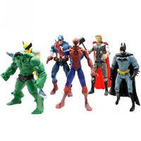 "6pcs 6"" The Avengers figure Iron Man Captain America Hulk Thor Hawkeye Movie"