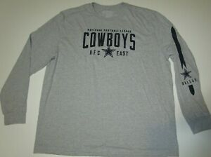New Dallas Cowboys authentic NFL Football licensed t-shirt Men's 3XL long sleeve