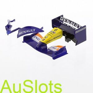 Scalextric W9713 Renault F1 Front and Rear Wing with Barge Board (eg.C2864)