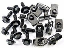 GM Body Bolts & U-nut Clips- M6-1.0 x 20mm Long- 10mm Hex- 20 pcs- #150
