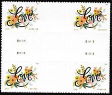 US 5255 Love Flourishes forever cross gutter block (4 stamps) MNH 2018