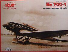 Avion de ligne Allemand HEINKEL He 70G-1 - KIT ICM 1/72 - N° 72233