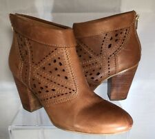 Guess Light Brown Tan High Heel Ankle Boots Size 9.5 M