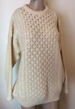 Highland Home Industries Womens 18 Large 100% Wool Jumper Made Scotland Cream
