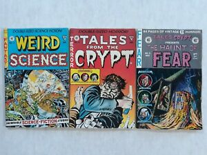 Tales From The Crypt Weird Science Haunt Of Fear EC Reprint Comic Book Lot