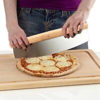 Pizza Cutter Stainless Steel Rocker Blade Cake Pancake Pie Rocking Knife Cutting
