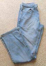 Men's Wrangler Jeans Relaxed Fit Boot 29x32 Premium Denim Jeans Great Cond