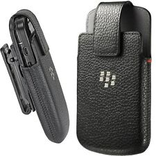 BlackBerry Premium Leather Swivel Holster Belt Clip BB Q10, Fit with Bold 9900