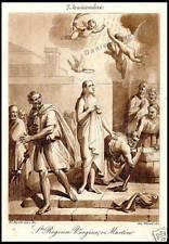 STAMPA ORIGINALE 1800 S.REGINA VERGINE E MARTIRE
