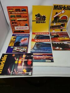 Marklin Catalog Lot of 8, 1969-1976. Nice Condition for Age.