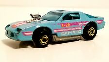 HOT WHEELS BLOWN CAMARO Z-28 BABY TURQUOISE BLUE VINTAGE 1988 LOOSE DICAST CAR