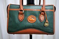 Sac à main DOONEY & BOURKE vintage cuir grainé vert et marron