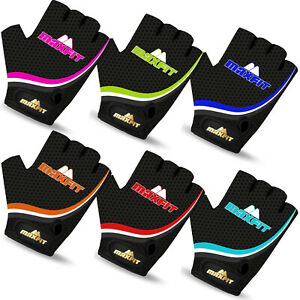 Kids Boys Girls Cycling Gloves Fingerless Padded Bicycle Cycle BMX Gloves