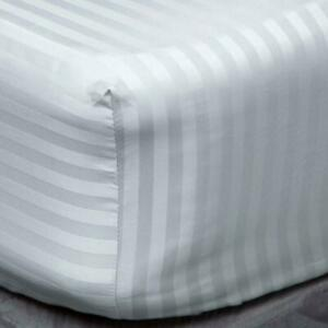 WHITE EXTRA DEEP FITTED SHEET 400TC 100% EGYPTIAN COTTON DOUBLE SUPER KING SIZE