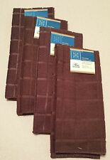 Kitchen Accessory Set Microfiber Hand Towel Chocolate Brown NEW