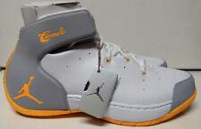 Jordan Melo 1.5 Size 10 White Atomic Mango Wolf Grey Basketball Shoe 631310-135
