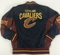 NBA Cleveland Caveliers Boys Large-14/16 Jacket Pullover Maroon Blue Yellow EUC
