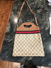 Gucci Supreme canvas Convertible Tote Handbag 2 Way Shoulder Strap EUC 100% Auth