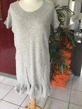 Robe BCBG  Max Azria taille 38/40 grise laine et cachemire