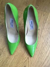 JIMMY CHOO POINTED TOE BRIGHT GREEN PATENT PUMPS SHOES SIZE 39 UK 6 US 9