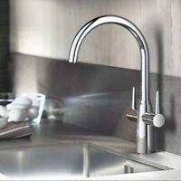 GROHE Ambi Monobloc Two Handle Kitchen Sink Mono Mixer Tap Swivel Spout RRP £190