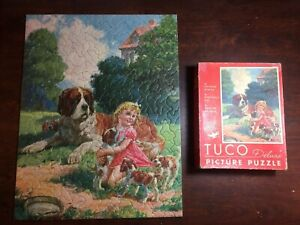Rare TUCO Vintage puzzle THE HOME GUARD 300-500pc COMPLETE AND PRISTINE!