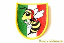 "VESPA Aufnäher ""Italy Wappen / Wespe"" - Italia Italien V50 PK PX Piaggio Patch"