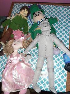 "Nanco The Wizard Of Oz Stuffed Plushes Toy 11"" Tin Man, Scarecrow, Witch, Mayor"