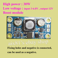 30W DC 3.3V 3.7V 5V 6V to 12V Step Up Boost Module LED Moter Router Power Supply