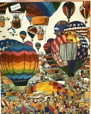 """1989 GAPF Vintage """"Hot Air Ballooning"""" by John Holladay 550 Piece Puzzle"""