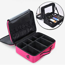 Makeup Professional Cosmetic Case Box Storage Handle Pouch Travel Bag Organizers