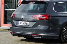 Difusor trasero medios heckansatz parte de ABS para VW Passat 3g b8 r-line con Abe