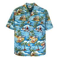 500-1225 Hawaii's Official Christmas Hawaiian Shirt with Santa Surfing