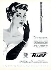 Swiss watch Tissot from Le Locle Swiss XL 1953 ad 100 anniversary advertising