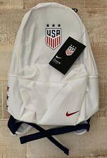 NEW Nike Stadium USA Backpack / Laptop Bag BA5821-100 Unisex White ~ FREE SHIP!