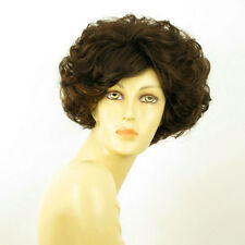 short wig for women curly chocolate copper wick ref FRANCINE 6h30 PERUK