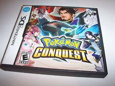 Pokemon Conquest Nintendo DS Lite DSi XL 3DS w/Case & Manual
